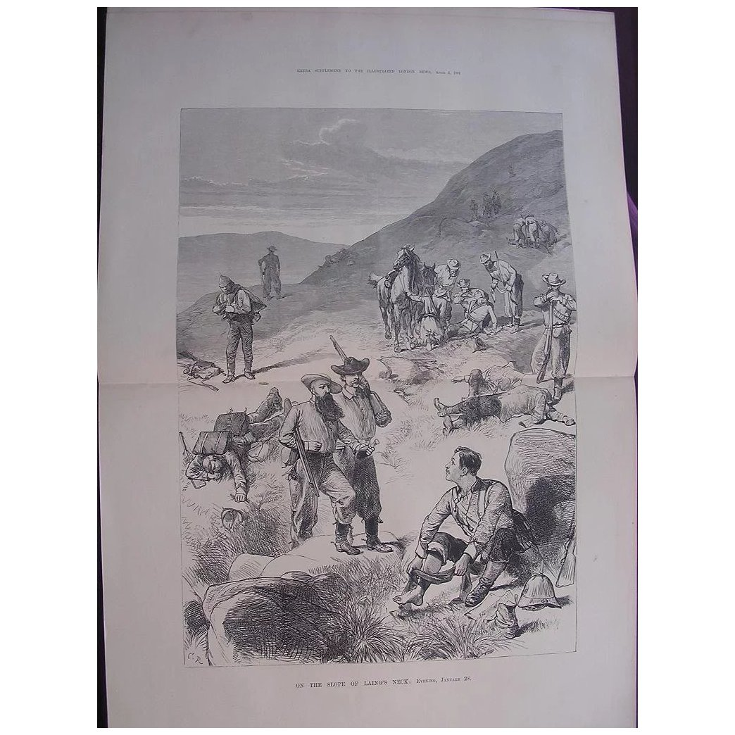 TRANSVAAL WAR 'On The Slope Of Laing's Neck