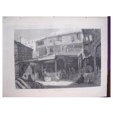 'THE BAZAAR, Cairo' Full Page From The London Illustrated News 1881