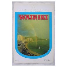 Vintage Hawaiian WAIKIKI Sticker By Pacific Promotions Inc