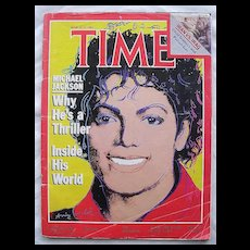Michael Jackson COVER Time Magazine March 19 1984