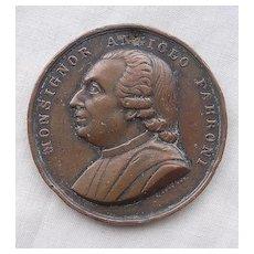 Angiolo FABRONI Old Large Copper Medallion Circa 1850