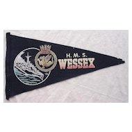 H.M.S. WESSEX Souvenir Pennant