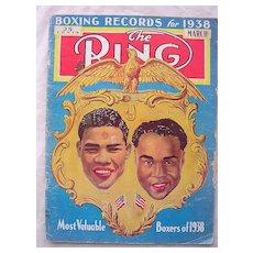 RARE Vintage 'The RING' Magazine Vol. XV111 March 1938
