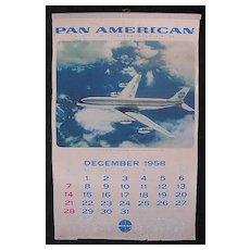 Original Rare 1959 Pan American  Airlines Calendar