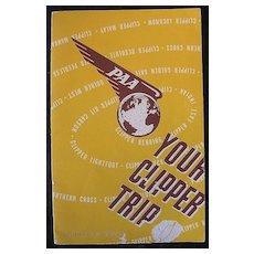 "Vintage 1947 Pan American Airways 'Your Clipper Trip"" Booklet"