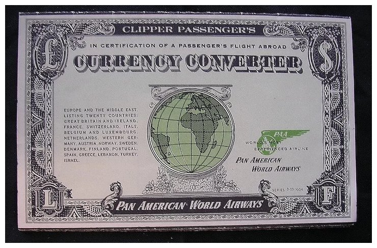 Vintage 1955 Pan American Currency Converter Booklet Antique Goos Ruby Lane