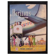 Rare Vintage TRANS CANADA Airlines Promotional Booklet Circa 1948