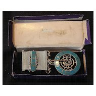 DORIC Free Masons Lodge Sterling Silver Jewel Hall Marked 1924