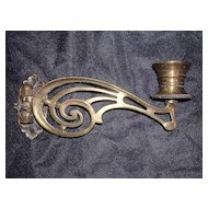 Late Victorian Brass Piano Sconce
