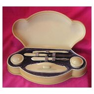 Art Deco IVORINE Ladies Manicure Set
