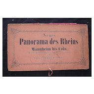 Fantastic Victorian Era 'Panorama des Rheins' Ornate Fold-out of The Rhine River