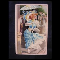 Gorgeous GERMAN Glamour Girl Postcard Dated 1909