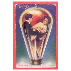 OLD 1910 Postcard 'Lovelights - Break Away'