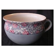 Old English Floral Potty or Chamber Pot