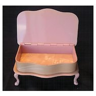 English Ivorine Piano Trinket Box in Shades Of Pink