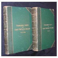 Fairbairn's Crests Of Great Britain & Ireland 2 Vol 's First Edition 1860