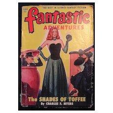 FANTASTIC Adventures Sci Fi Magazine Vol.12 Number 6 1950