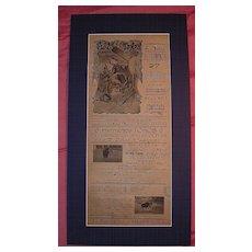 1919 Lima Bull Fight Advertising Poster
