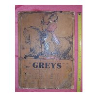 """Old Advertising Poster for """"THE GREYS"""" Cigarettes Circa 1915"""