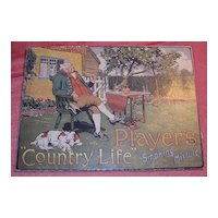 """PLAYER'S """"Country Life"""" Smoking Mixture Mounted Display Poster"""