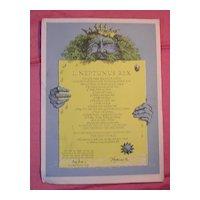 P & O Lines  'Oronsay'  Neptunus Rex  Equator Certificate