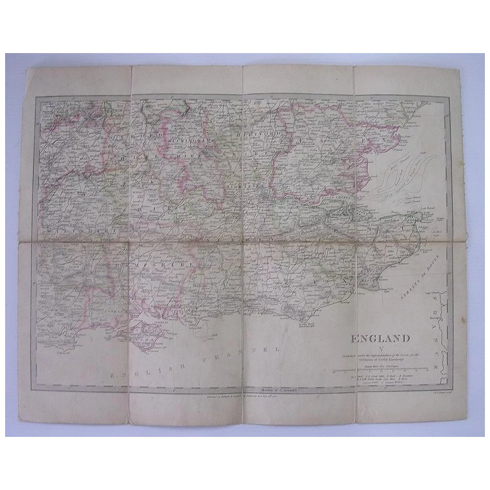1830 MAP of The South East of England - William IV Period
