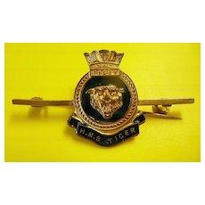 Royal Navy - H.M.S TIGER  - Tie Pin Clip