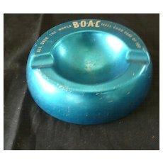 BOAC Alloy Advertising Ashtray.