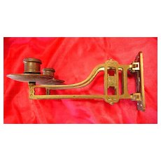 A Double Arm Arts & Crafts Piano Candle Sconce Circa 1900