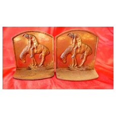 A Pair of Red Indian Book Ends