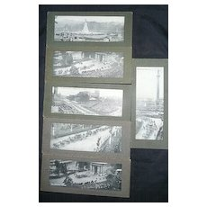 SET of Six 'Panoramic' Cards Edward VII Coronation