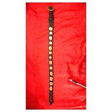 Very Old Draught Horse Leather and Brass Decorations