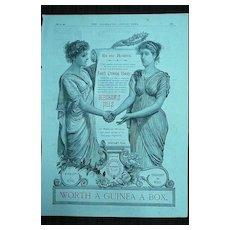 BEECHAM'S PILLS - Original Full Page Advert Illustrated London News February 1890