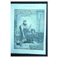 BROOKES Monkey Brand SOAP - Original Full Page Advert Illustrated London News May1890