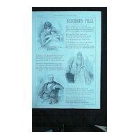 BEECHAMS PILLS - Original Full Page Advert Illustrated London News March 1890