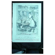 BROOKES Monkey Brand SOAP - Original Full Page Advert Illustrated London News March 1890
