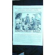 ENOS FRUIT SALT - Original Full Page Advert The Graphic 1885