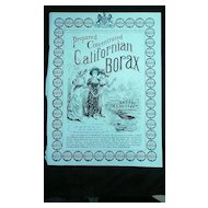 CALIFORNIAN BORAX - Original Full Page Advert The Graphic 1885