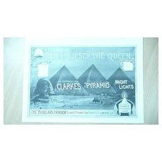 CLARKE'S 'Pyramid' Night Lights Full page Illustrated London News 1895