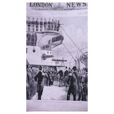 'The Italian Squadron at Portsmouth' Front Page from The London Illustrated News July 1895