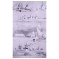 The THAMES Yachting Season' Full Page from The London Illustrated News July 1895