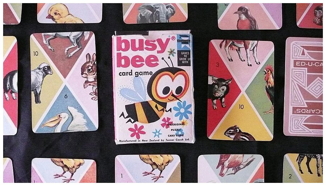 BUSY BEE Chldren\'s Playing Card Game : Antique Goodies   Ruby Lane