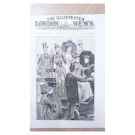 "Front Page Illustrated London News  1892  ""At The Derby -Waiting For The Start"""