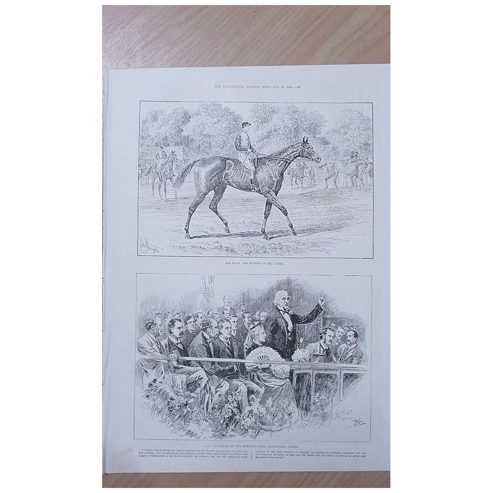 Full Page Illustrated London News 1892