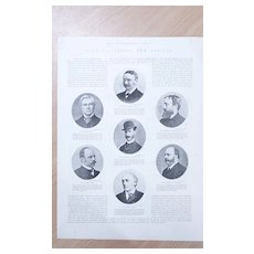 """Full Page Illustrated London News 1892  """"Lord Salisbury's New Cabinet"""""""