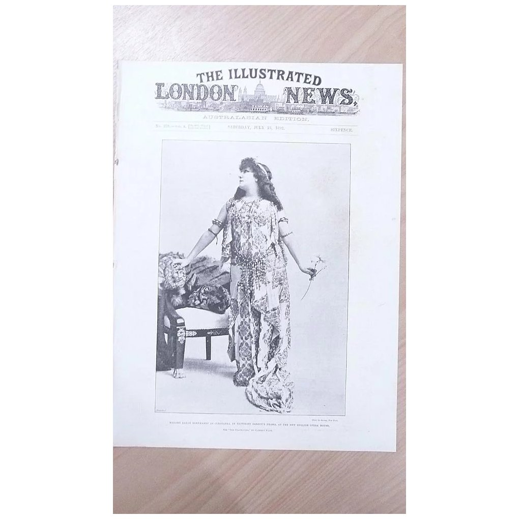 Front Page Illustrated London News 1892