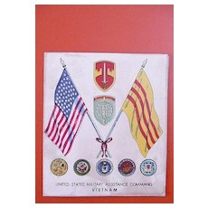 VIETNAM WAR - Rare -United States Military Assistance Command Xmas Card