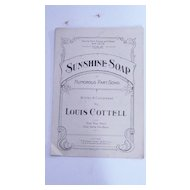 Black Americana Sheet  Music 'Sunshine Soap'