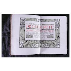 Pig Pen Pete - Elbert Hubbard -First Edition 1914