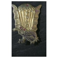 Rare French Indochina War Colonial Troops 7th Airborne Paras Badge,